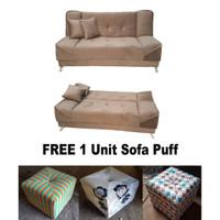 Sofa Bed Kimura Free puff seharga 300rb dan EXTRA FREE ONGKIR...