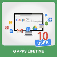 Account G Apps / G Suite Seumur Hidup 10 User