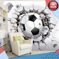 TERLARIS 3D Sepak Bola Wallpaper Olahraga Latar Belakang Lukisan