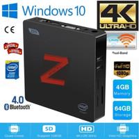 Z85 Mini PC 4/64GB Intel Atom X5-Z8350 Windows10 DualDisplay Dual Wifi