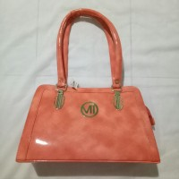 tas handbag kulit kilat orange chennai India