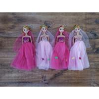 Gantungan Kunci Boneka Berbi Keychain Princess Barbie Doll Mainan Anak