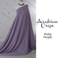 1/2 Meter Kain ARABIAN CREPE Dusty Purple