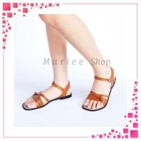 DRS Marlee - Buckle Strap Sandal Flat Wanita BN-02