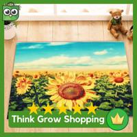 PROMO Emas Bunga Matahari Area Karpet Lantai Untuk Kamar Tidur