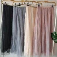 Rok Wanita / Rok Maxi Skirt -- Tutu maxi skirt polos import bkk hk chn