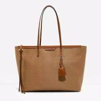 Harga charles and keith original textured tote bag ck rotan | antitipu.com
