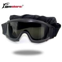 SAR Kacamata Goggle Pelindung Lensa Taktis 3 Lensa