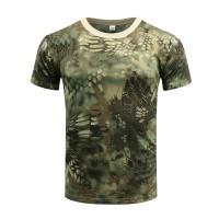 Terlaris Taktis Kamuflase T Shirt Pria SWAT Tentara Militer Camo