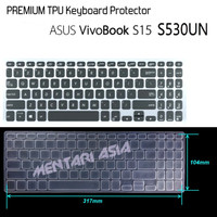 Keyboard Protector ASUS VivoBook S15 S530UN - PREMIUM TPU Clear
