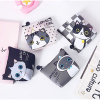 DK009 Dompet Koin Cute Cat / Coin Wallet Kucing Lucu / Tempat Kosmetik