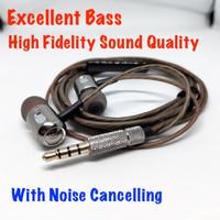 Balanced Tuning Cannon Stylish Metal Earphone Bass Headset With Mic
