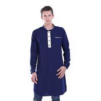 HRCN BLUE KURTA Men Kurta Gamis Muslim Pria - H 1020