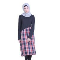 HRCN HALF SQUARE Women Longdress Gamis Muslimah Wanita - H 3201