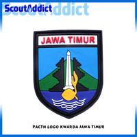 Pacth Karet Pramuka Logo Kwarda Jawa Timur
