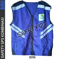 Rompi Jaring K3 SPS Safety Kombinasi Vest 2 Lapis Tebal Bagus Biru