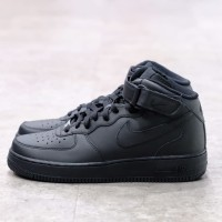 Nike Air Force 1 Mid Black 100% Authentic