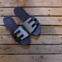 sandal teplek kulit asli
