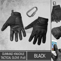 GunMad Knuckle Tactical Glove Full Black