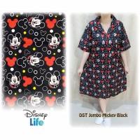 JUMBO DASTER MICKEY BLACK piyama baju tidur katun jepang big size xxxl