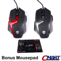 Mouse Gaming Rexus GT5 Xierra Bonus Mousepad - RXM-GT5