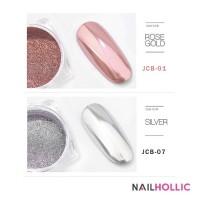 Mirror nail powder silver / rose gold / nail art