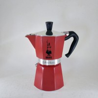 Bialetti Moka Express RED Moka Pot Coffee Maker for 6 Cups