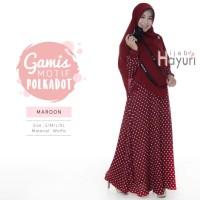 Gamis Polkadot Original (MAROON) by Hijab Hayuri