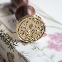 Gudily Medieval Floral Wax Seal