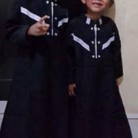 JB - baju muslim koko gamis anak arab pria laki syar'i hitam (1 sd 12
