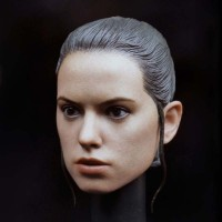 1//6 Daisy Ridley Star Wars Rey Head Sculpt For Hot Toys Phicen Female Figure