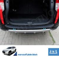 All New Pajero Sport Sill Plate Belakang - Rear Scuff Plate Black JSL