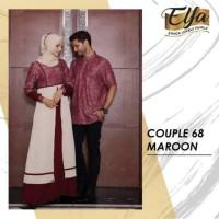 ( Couple 68 maroon ) gamis dewasa ethica kagumi 109 maroon Kahfi 63