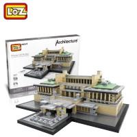 Lego Mini Block Loz Rumah Imperial Hotel 1017