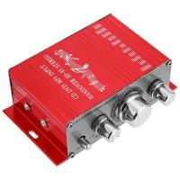 Lepy Hi-Fi Stereo Amplifier Speaker 2 channel 20W - HY-2001 - Red