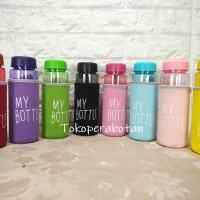 Botol Air Minum My Bottle Bening BPA Free Bonus Kantong Busa / Pouch
