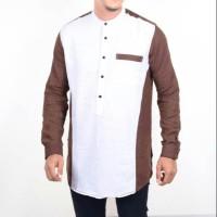 Harga baju koko gamis pakistan two tone white dark fashion muslim pria | antitipu.com