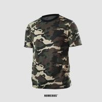 Tricolor camouflage shirt / kaos / army / sablon