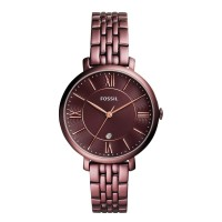 Fossil Jacqueline Three-Hand Date Wine Stainless Steel ES4100