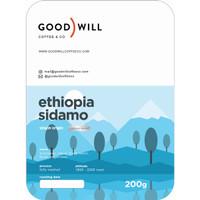 Kopi Arabica Ethiopia Sidamo 200gr - Goodwill Coffee, Biji/Bubuk