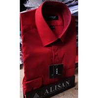 ALISAN Kemeja Polos SLIM FIT Lengan Panjang - Merah