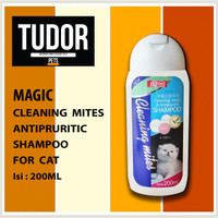 SHAMPOO Kucing MAGIC CLEANING MITES & ANTIPRURITIC 200 ML - FOR CAT