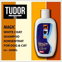 SHAMPOO Anjing Kucing MAGIC WHITE COAT 200 ML - UNTUK BULU PUTIH