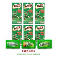 MILO Activ-Go Minuman Siap Minum UHT 190ml [6 Pcs] Gratis Lunch Box
