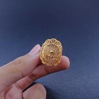Cincin Xuping kembang lapis emas wanita CX1