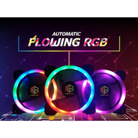 CUBE GAMING AUTOFLOW RGB RAINBOW INNER&OUTER LED 12CM RING FAN