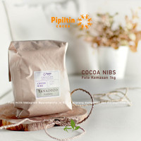 Pipiltin Cocoa NIBS 1kg origin Tanazozo FLORES Biji Cokelat Cacao Nibs
