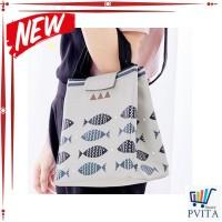 HOT LIST e1h1 Lunch bag FISH tas bekal cooler bag bonus 2pcs jelly