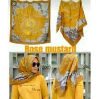 hijab voal premium rose mustard /kerudung segi empat