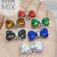 6pcs Kepala Bros Kristal mix warna 1